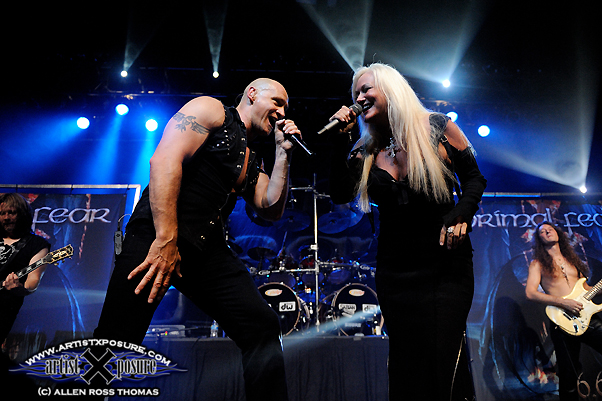 Primal Fear and Pamela Moore perform at Progpower USA X