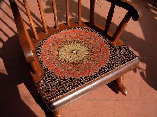 Sunflower Mandala Chair by Margaret Almon.