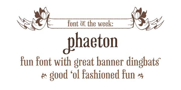 Phaeton font