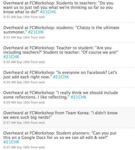 Overheard at the Flat Classroom Workshop