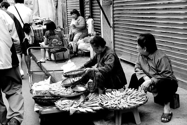 卖咸鱼的老太婆,大澳