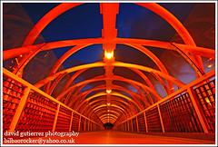 La Pasarela  Architecture of Leioa at Night
