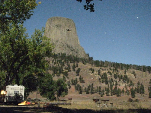 Devil's Tower by Full Moon
