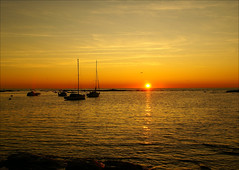romantic sunset (atsjebosma) Tags: sunset sun france bird boats evening coast romantic frankrijk atlanticcoast lecroisic romanticsunset atsjebosma