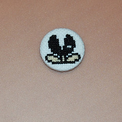 muncher (anonymityblaize) Tags: crossstitch mario badge button muncher