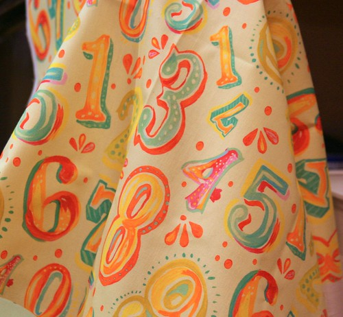 Fabric Of the Week Winner - Numbers! 10/21/2009