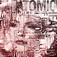 Atomic Glass (Village9991) Tags: music records rock punk mosaic letters deception illusion blond american 80s 70s glam lettering blondie debbieharry superstar atomic gigolo typefaces heartofglass graphicmaster