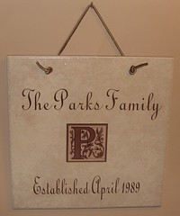 hanging family established plaque