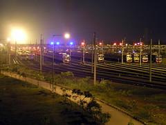Train parking lot