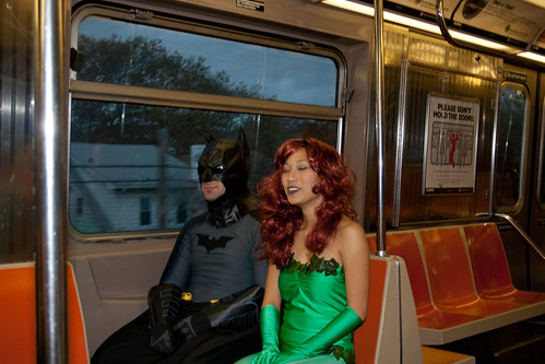 Batman and Poison Ivy Call a Truce on the Train