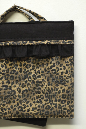 custom leopard potholder