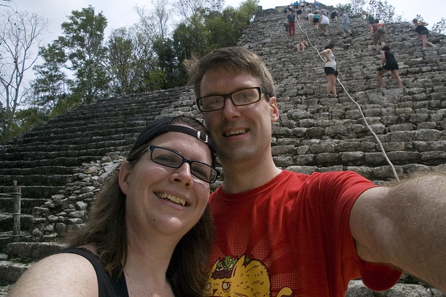 The Schnuths at Nohoch Muul, Coba