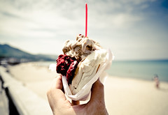 Gelatino in Bun; Cefalu, Sicily (W Ly) Tags: sea italy beach seaside sweet icecream sicily gelatino d7000