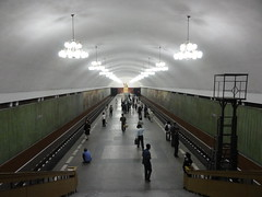 Kaeson Station - Pyongyang Metro (mikestuartwood) Tags: asian asia north korea communist communism korean socialist socialism northkorea dprk dpr northkorean dprkorea dprkorean