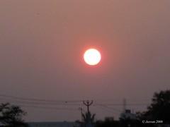 Sun sets near Tirupur