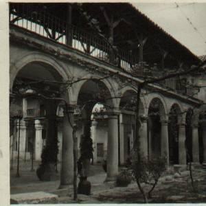 Convento de Santo Domingo el Real de Toledo. Patio del Moral abierto antes de ser dividido al alquilarse parte a las Adoratrices