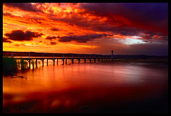 Sunset at Long Jetty (-yury-) Tags: longexposure sunset lake water landscape australia nsw centralcoast tuggerah theentrance longjetty