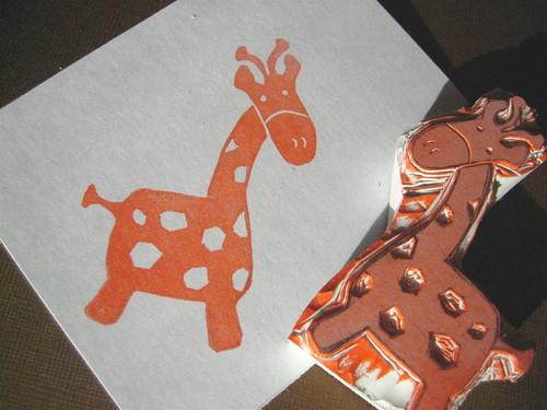 Giraffe stamp