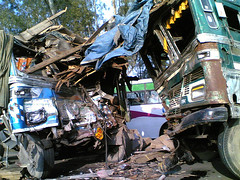 Aftermath of a Collision (Shubh M Singh) Tags: road winter india fog truck highway accident rage punjab collision overspeeding overspeed banur zirakpur