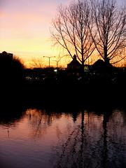 Sunset in Worcester (jelisaveta21) Tags: sunset reflection water reflections worcester landscapesshotinportraitformat