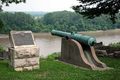 French cannons over Missouri River, Fort Leavenworth