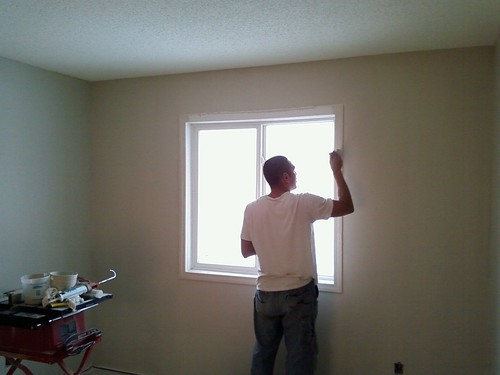 painting the trim in our room