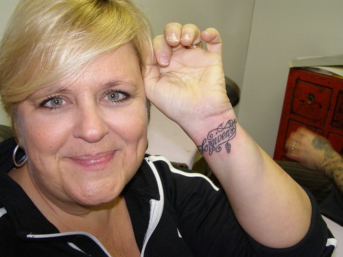 beautiful mother-in-law Tracy was one of those women who got tattooed?
