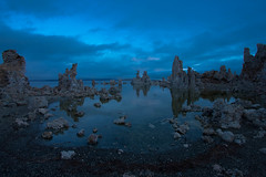 mono lake, CA (wallypumpernickel) Tags: california morning blue sky lake david rock clouds sunrise canon mono desert time salt lakes calcium desolate formations 40d goughnour photocontesttnc09