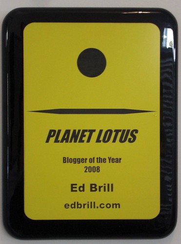 Planet Lotus blogger of the year award