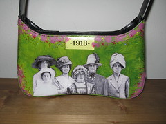 Thrifted black purse, after