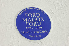 Photo of Ford Madox Ford blue plaque