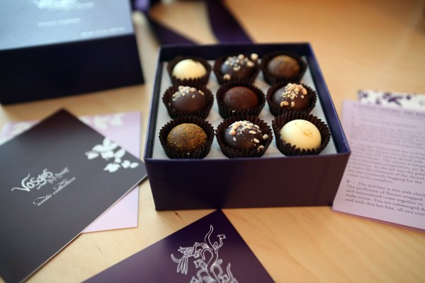vosges chocolate and light