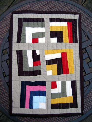 Quilt Dad: Quilt Along | 4. Wonky Quarter Log Cabin Block : wonky quilt - Adamdwight.com