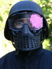 pink black eye dave glasses mask helmet headshot paintball swat