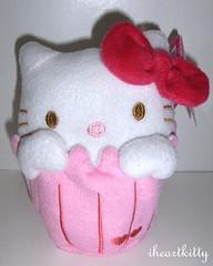 HK cupcake plush (iheartkitty) Tags: cute strawberry hellokitty plush sanrio cupcake kawaii target valentinesday iheartkitty