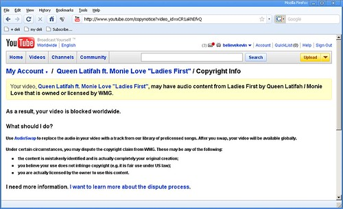 Screenshot of Resolve Copyright page
