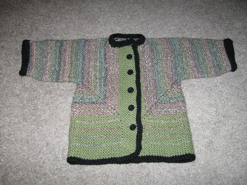 Baby Surprise Jacket from Stash Yarn
