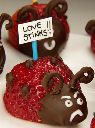 Vegantine's Day Strawberry Love Bugs