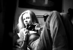 ef3_011 (mariczka) Tags: bw selfportrait reflection film me girl analog canon 50mm mirror noir bokeh f14 blanc blackdiamond blancinegre canonef audel explored autaut mariczka 3zstudio vintageanalogue