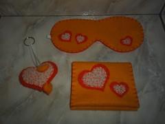 Kit mulher I (Pontos de Amor by Jssica) Tags: feltro chaveiro portaabsorvente mscaradosono