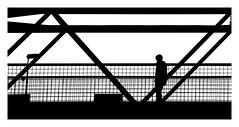 Puente en negro y blanco