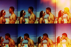 okto kiss (jena ardell) Tags: summer love beach ex boyfriend me sunglasses lomo kiss girlfriend couple action crossprocess toycamera rick jena shore exboyfriend exfiance jenaardell ocktomat lomoocktomat