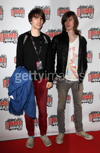 Sam & Faley from Late Of The Pier at NME Awards 2009
