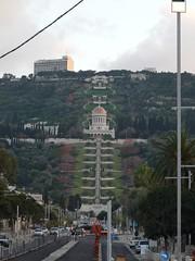 Blick vom Anfang der Ben-Gurion-Avenue in der Deutschen Kolonie in Haifa