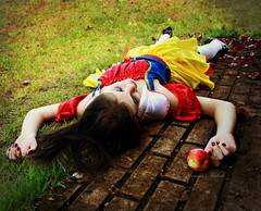 Snow White (Nika Fadul) Tags: apple grass dead death heart ground poison coloful snowhite lifeiscolorful monicafadul nikafadul