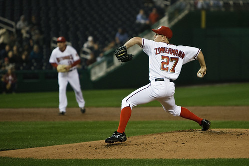 Jordan Zimmerman makes his first MLB start