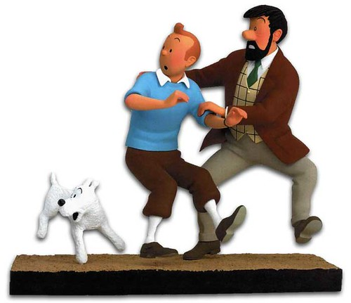 Tintin, Haddock And Snowy