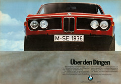 BMW E9 (1971) (jens.lilienthal) Tags: auto old classic cars car vintage print advertising 1971 media reclame ad voiture historic advertisement advert older bmw oldtimer autos werbung reklame 2500 e9 voitures anzeige youngtimer 2800
