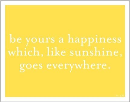 laurel denise happiness and sunshine print