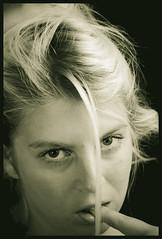 """Naughty girl"" (J.K. NUKE) Tags: portrait bw woman 2009 aruna jknuke strobist"